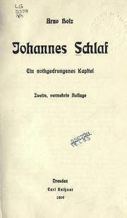 Cover of: Johannes Schlaf
