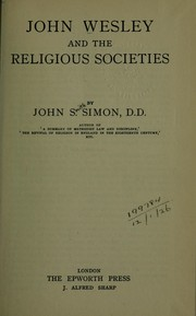 Cover of: John Wesley and the religious societies