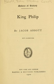 Cover of: King Philip