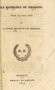 Cover of: La batelera de Pasages
