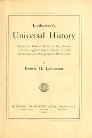 Cover of: Labberton's universal history