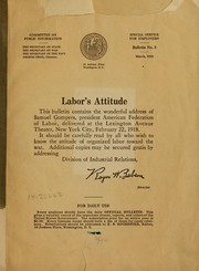 Cover of: Labor's attitude ...