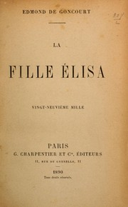 Cover of: La fille Élisa