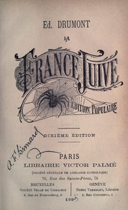 Cover of: La France juive