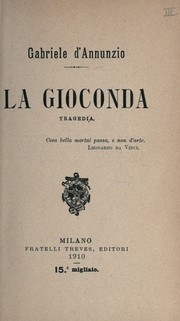 Cover of: La Gioconda, tragedia