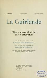 Cover of: La Guirlande by Umberto Brunelleschi