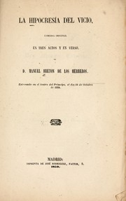 Cover of: La hipocresía del vicio