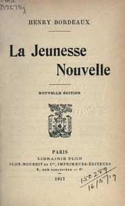 Cover of: La Jeunesse Nouvelle
