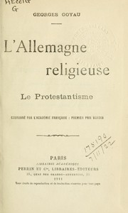 Cover of: L'Allemagne religieuse-