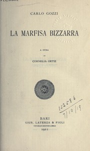 Cover of: La Marfisa Bizzarra