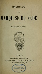 Cover of: La marquise de Sade