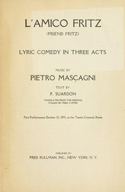 Cover of: L'amico Fritz