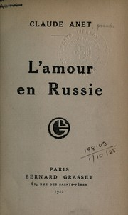 Cover of: L'amour en Russie