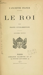 Cover of: L' Ancienne France - Le Roi