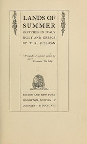 Cover of: Lands of summer | Sullivan, T. R.
