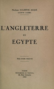 Cover of: L' Angleterre en Egypte