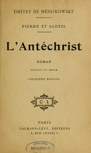 Cover of: L'antéchrist