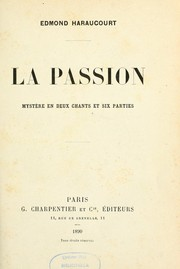 Cover of: La passion