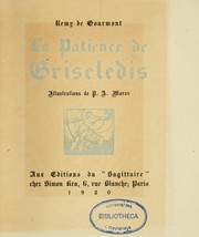 Cover of: La patience de Griseledis