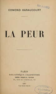 Cover of: La peur