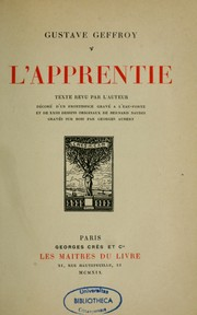 Cover of: L'apprentie