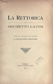 Cover of: La Rettorica