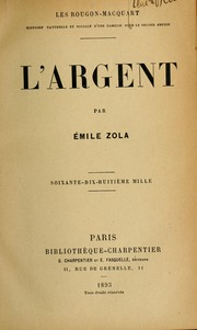 Cover of: L' argent