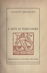Cover of: L'arte di persuadere