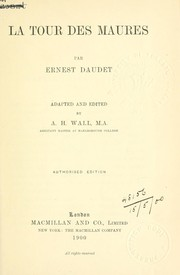 Cover of: La tour des Maures | Ernest Daudet