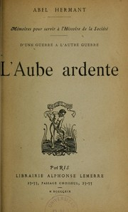 Cover of: L'Aube ardente