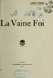 Cover of: La vaine foi
