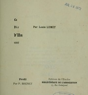 Cover of: La vie d'un