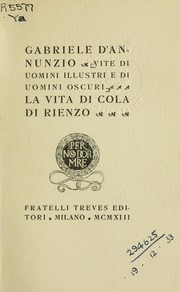 Cover of: La vita di Cola di Rienzo