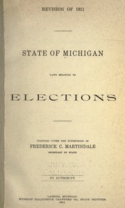 Cover of: Laws relating to elections | Michigan