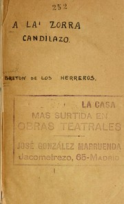Cover of: A la zorra candilazo