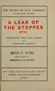 Cover of: A Lear of the steppes etc