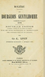 Cover of: Le bourgeois gentilhomme