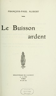 Cover of: Le buission ardent