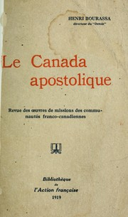 Cover of: Le Canada apostolique