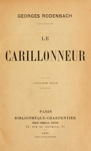 Cover of: Le carillonneur
