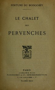 Cover of: Le chalet des Pervenches