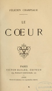 Cover of: Le coeur