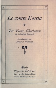 Cover of: Le comte Kosita