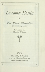 Cover of: Le comte Kostia