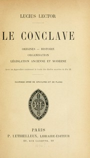 Cover of: Le conclave