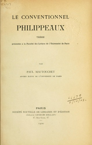Le conventionnel Philippeaux by Paul Mautouchet
