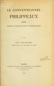 Cover of: Le conventionnel Philippeaux | Paul Mautouchet
