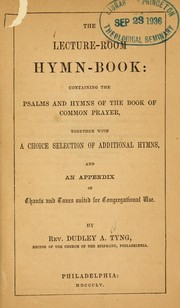 Cover of: The Lecture-room hymn book