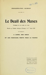 Cover of: Le deuil des Muses