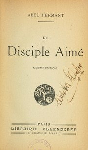 Cover of: Le disciple aimé